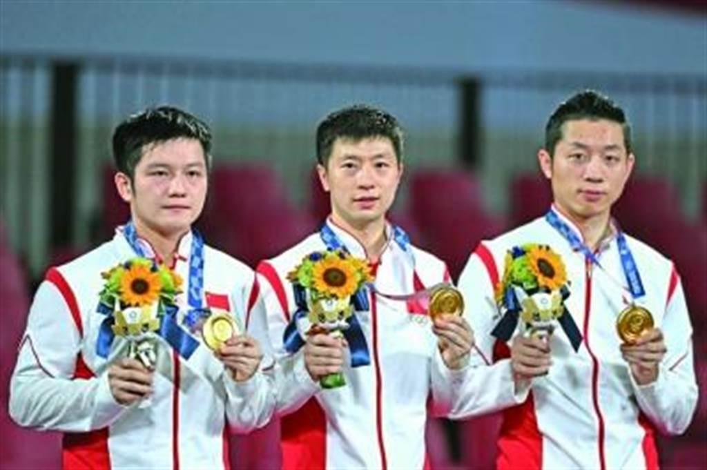 東奧金牌榜,中國隊38金落袋,美國緊追有望追上。(新華網)