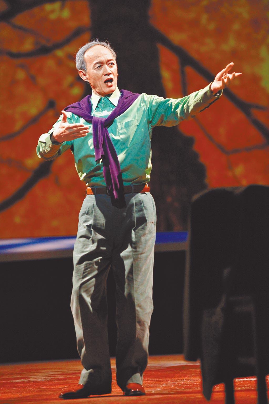 金士傑在《最後14堂星期二的課》殿堂級的演技感動人心。(果陀劇場提供)