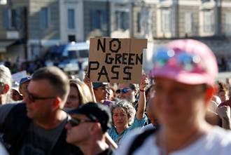 反對綠色通行證 數千義大利人多個城市上街抗議