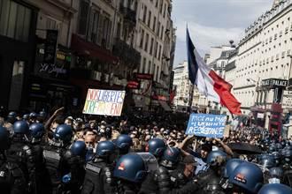 反對健康通行證  法國各地逾23萬人上街抗議