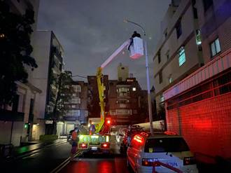 守護市民安全回家的路 中市建設局攜手台電緊急搶修故障路燈