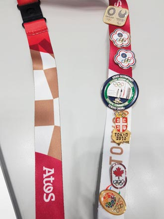 東奧隨筆》交換奧運徽章 滿滿的東京回憶