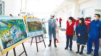 雨炸中台灣 燕子視察防汛整備