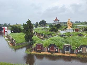 雲林、台南沿海積水未退 墳墓泡水裡