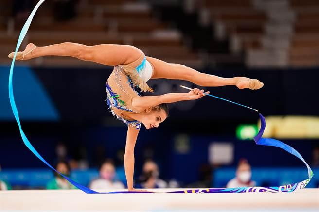 以色列選手阿什拉姆(Linoy Ashram)替國家拿下第一面奧運金牌。(圖/達志)