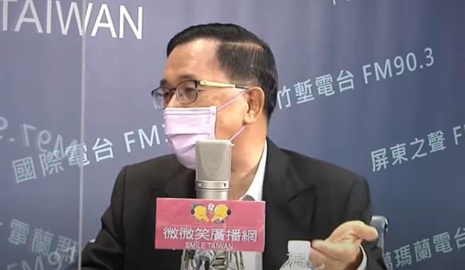 陳水扁今(8)日訪問前外交部長陳唐山。(取自「微微笑廣播網」)