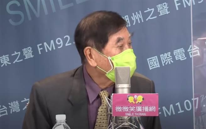 前外交部長陳唐山。(取自「微微笑廣播網」)