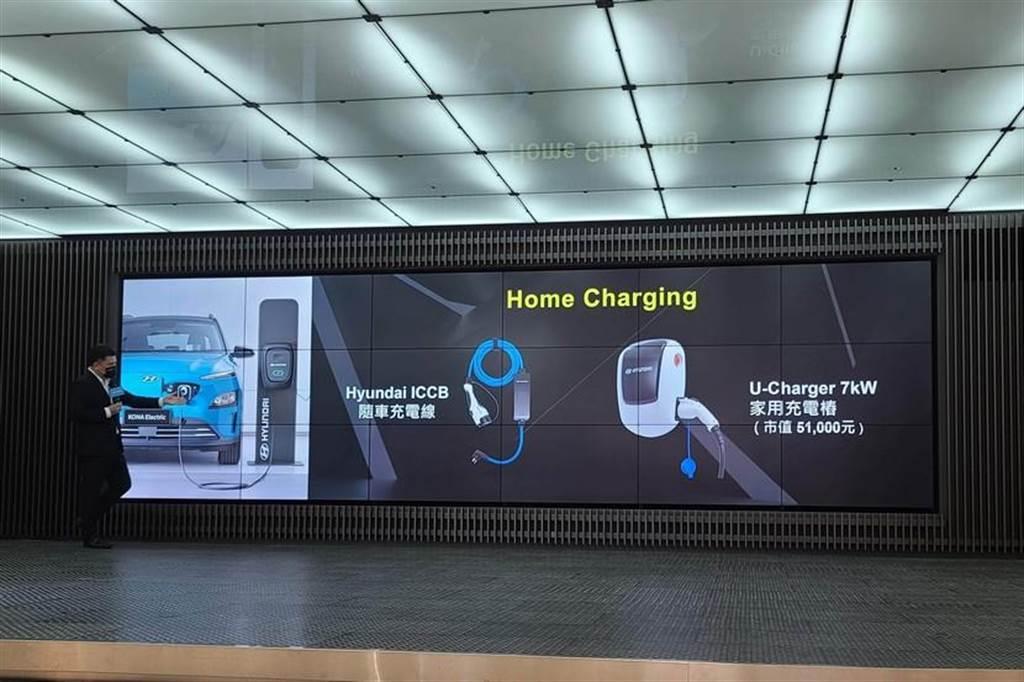 Kona EV 隨身均附贈 Hyundai ICCB 旅充,只要有插座,都可以隨時為車輛補電。(圖/DDCar)