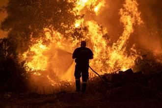 失控延燒第6天 希臘第2大島野火「像恐怖電影」