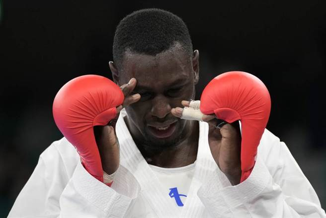 痛失金牌的Tareg Hamedi。(美聯社資料照)
