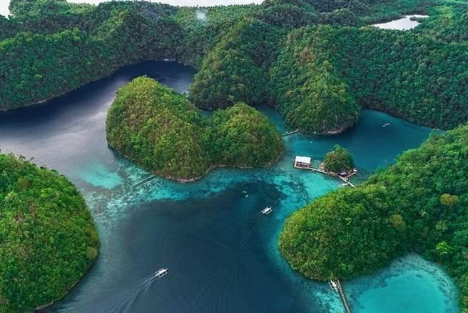 鳥瞰菲律賓錫亞高島。 圖:菲律賓觀光部台灣分處/提供