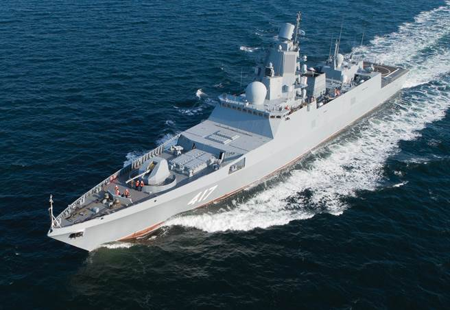 5000噸的戈爾什科夫號,是目前俄羅斯海軍較新,性能較好的軍艦。(圖/俄羅斯海軍)