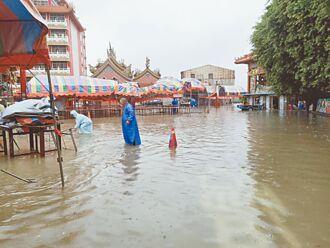 雨彈炸北門 降雨量全台第一