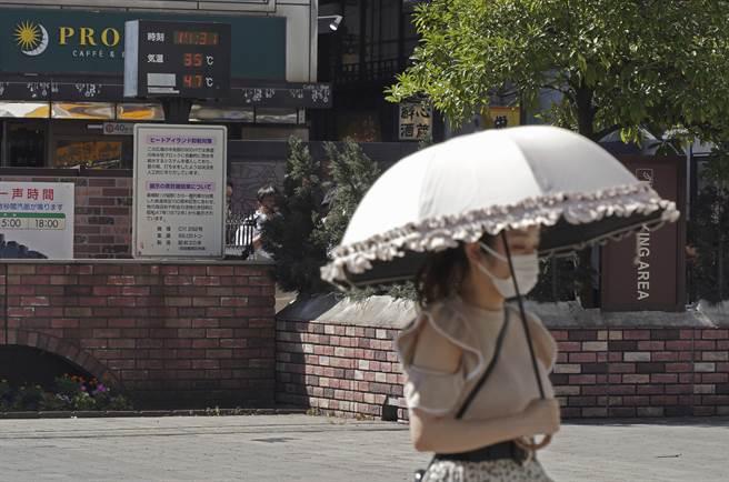 預測熊谷市今天最高氣溫將達攝氏40度、埼玉市與前橋市達39度,東京都心與甲府市也將達37度(圖/美聯社)