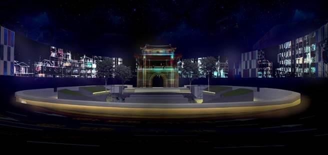 「新竹光臨藝術節─光之島」線上直播首映,內容有180度環繞科技投影,更有優人神鼓現場演出,精彩可期。(新竹市政府提供/陳育賢新竹傳真)