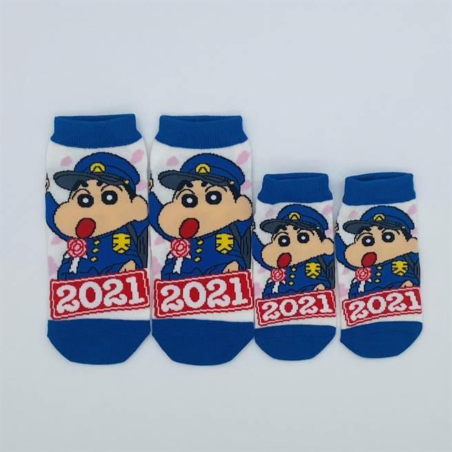 蠟筆小新2021電影襪子,成人、兒童尺寸都有,120元。(台隆手創館提供)