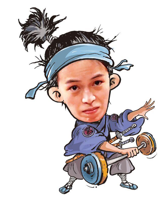「舉眾女神」郭婞淳。(陳敏捷繪)左耳 插畫/陳敏捷