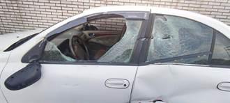 愛車停放車格遭撞玻璃全毀 警抽絲剝繭找出肇事者