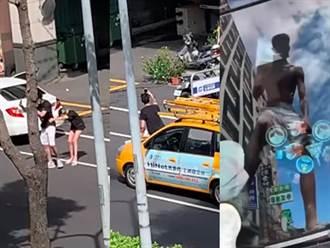 男闖路中瘋狂自拍 女友環抱攔不住 遭爆爬上車踩碎玻璃
