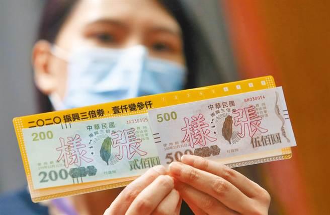 行政院將推出振興五倍券,民眾可用1千元換5千元。圖為去年推出三倍券。(資料照)
