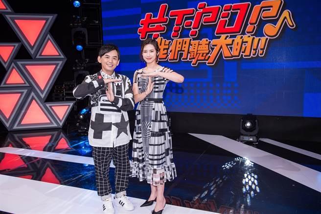 黃子佼(左)與趙岱新的新節目《#T-POP》因疫情延後開播。(TVBS提供)