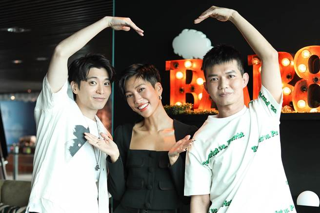 侯彥西(左起)、莫莉和宥凱今為《再說一次我願意》宣傳。(皮諾丘電影提供)