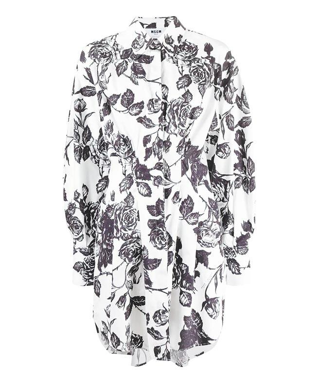 MSGM玫瑰印花洋裝,1萬6500元。(MSGM提供)