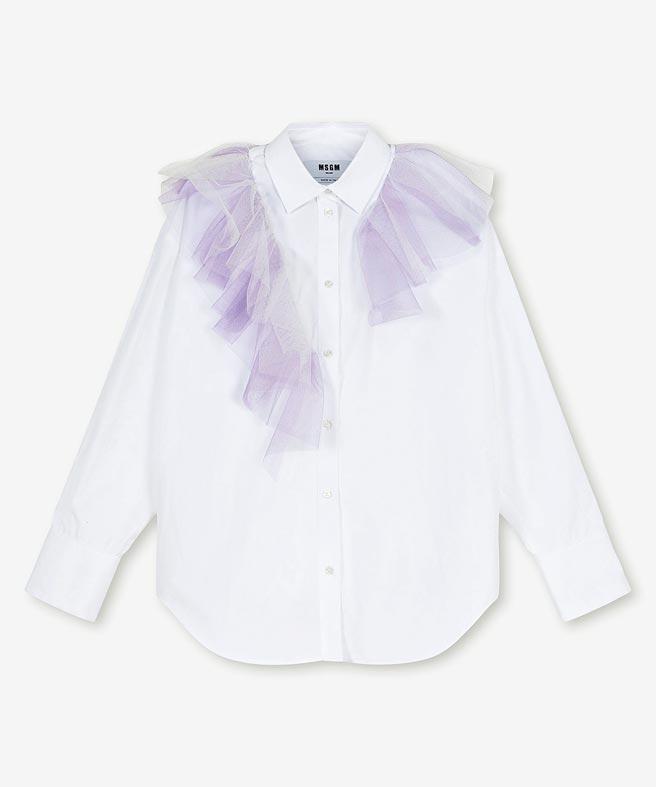 MSGM薄紗拼接襯衫,1萬4300元。(MSGM提供)