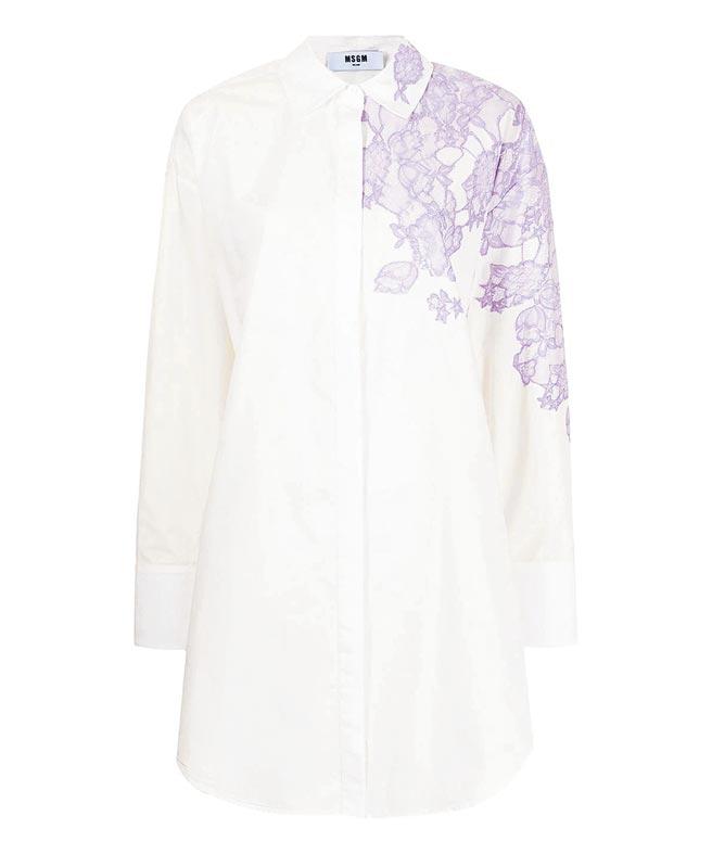 MSGM蕾絲印花洋裝,1萬4300元。(MSGM提供)