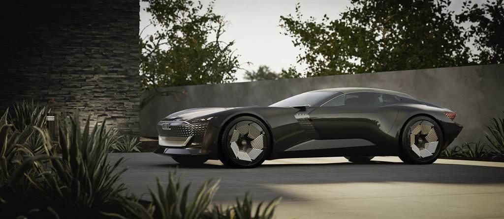 Audi skysphere concept擔綱Sphere三部曲中首位亮相的車款,下一款將於9月2日亮相。(圖/業者提供)