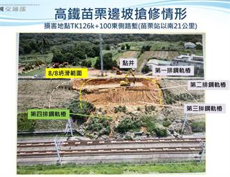 政院:高鐵苗栗段拚8月22日前恢復正常通車