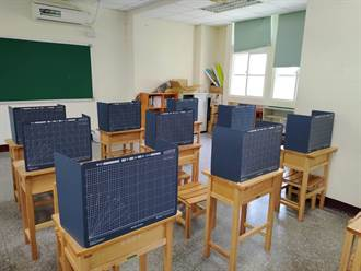 開學防疫新生活 桃園南崁國中預計開學每人配3面隔板