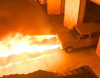 戰鬥民族改造「噴火車」 車頭燈噴出3m烈焰 網嗨爆