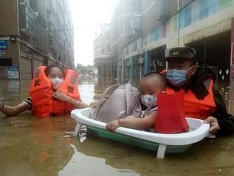 湖北柳林鎮強降雨積水已退 正多方救援、核查傷亡