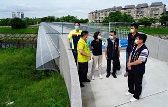 中市大康橋河域整治 雲橋、彩橋九月底啟用