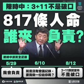 陳時中否認3+11是破口 民眾黨痛批出事落跑衝第一