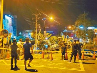 雲林截水工程路塌 台南永康現天坑
