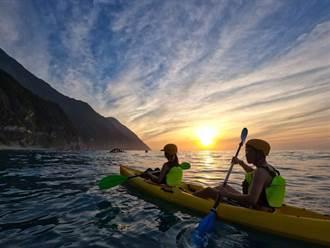 【花蓮景點】徜徉漸層啤酒海與日出太平洋合影 網傳最美畫面!
