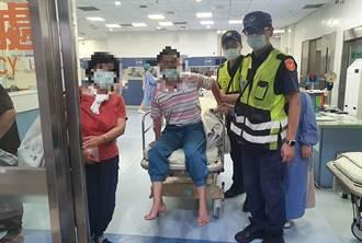 男療養院偷跑體力不支路倒喊找姊姊 警急救援