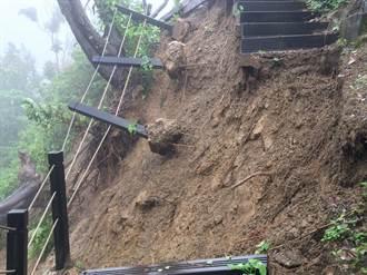 台中潭子新田三號登山步道邊坡崩塌 已封閉待修復