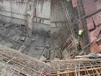 桃機變電站灌漿板模倒塌 1工人重傷、2輕傷緊急停工