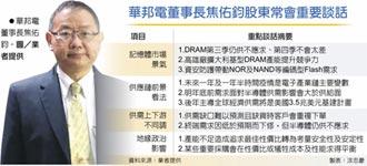 焦佑鈞:DRAM下半年仍供不應求