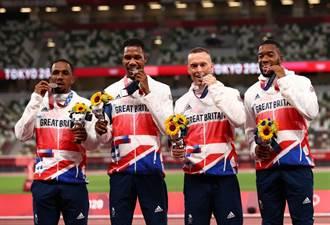東奧》英國接力銀牌被驗出禁藥 大陸隊有望遞補銅牌