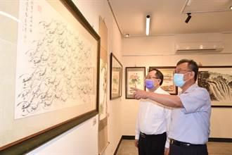 前警政署副署長蔡俊章水墨畫展開幕 逾半世紀藝術成就