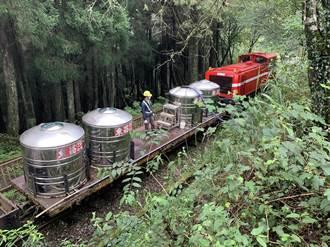 阿里山對高岳車站沒水可用 林鐵平甲車化身載水車神救援
