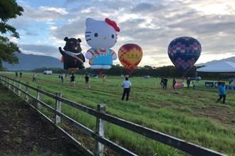 台東熱氣球繫留體驗 HELLO KITTY及喔熊驚艷池上