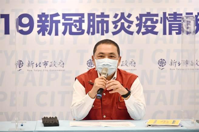 新北市長侯友宜說,地方紓困加碼會以庶民經濟為主軸。(新北市新聞局提供)
