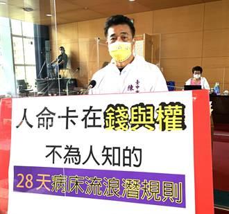 醫院28天潛規則 中市議員籲改善制度才是醫病之福