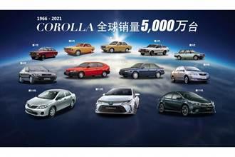 全世界都熱愛、Toyota Corolla 車系全球銷量突破 5000 萬輛!