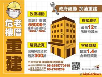 台南推動危老重建輔導團隊2.0 解決老屋重建